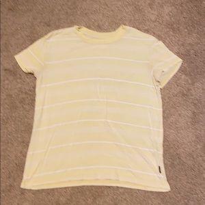 rvca t-shirt yellow size xs but fits like small